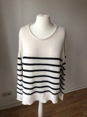 H&M Oversized Pullover gestreift