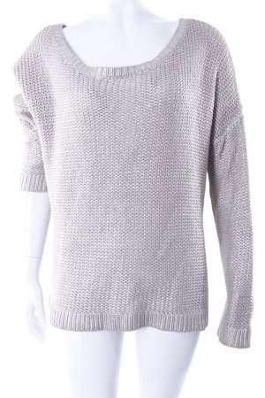 H&M Oversized Pullover silber