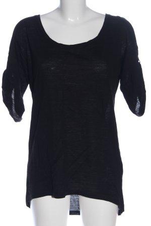 H&M Oversized Shirt schwarz Casual-Look