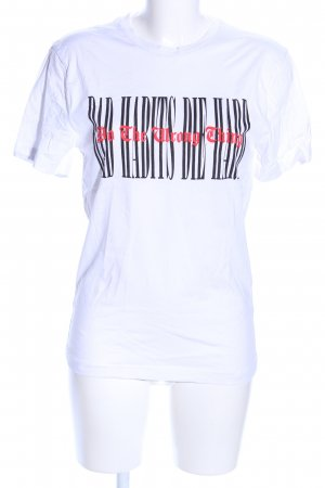 H&M Camicia oversize caratteri stampati stile casual