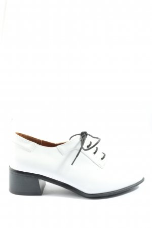 H&M Chaussure Oxford blanc style d'affaires