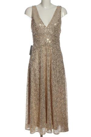H&M Vestido de lentejuelas nude-color oro elegante