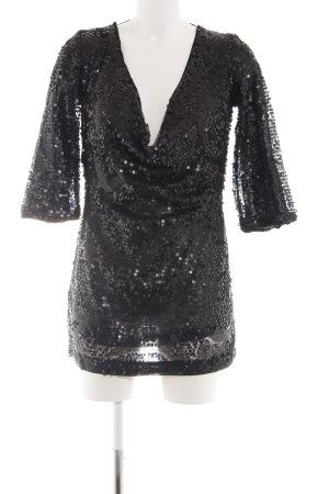 H&M Pailettenkleid schwarz Elegant