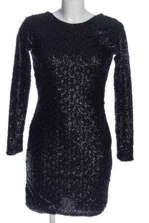 H&M Pailettenkleid schwarz Glitzer-Optik
