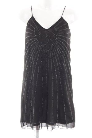 H&M Pailettenkleid schwarz abstraktes Muster Elegant