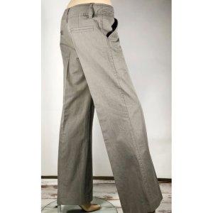 H&M Pantalone palazzo grigio-malva Cotone