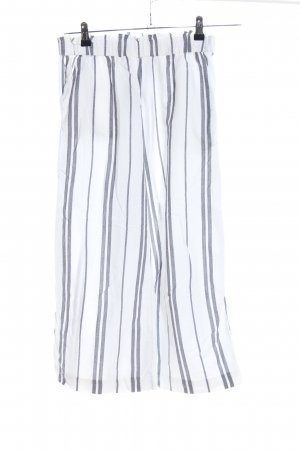 H&M Palazzo Pants white-light grey allover print casual look