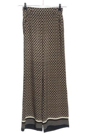 H&M Pantalon palazzo crème-brun imprimé allover style décontracté
