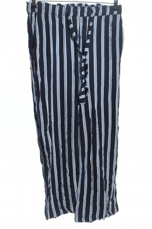 H&M Palazzo Pants blue-white striped pattern casual look