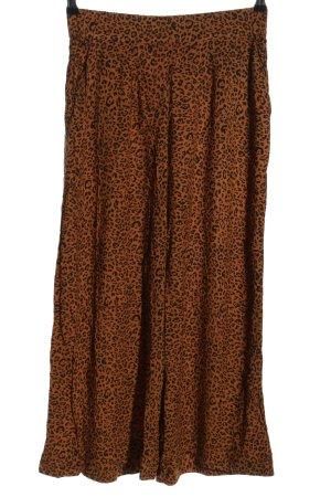 H&M Pallazzobroek bruin-zwart dierenprint elegant
