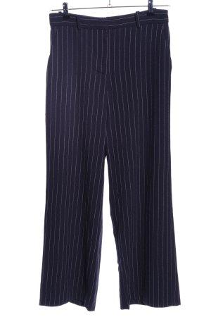 H&M Pallazzobroek blauw-wit gestreept patroon zakelijke stijl