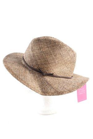 H&M Panama Hat brown-nude weave pattern casual look