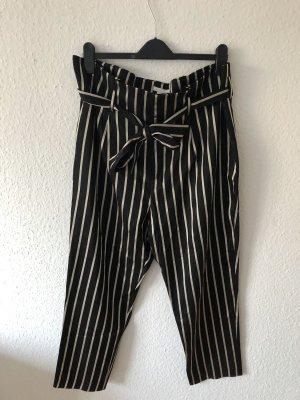 H&M Hoge taille broek zwart-goud