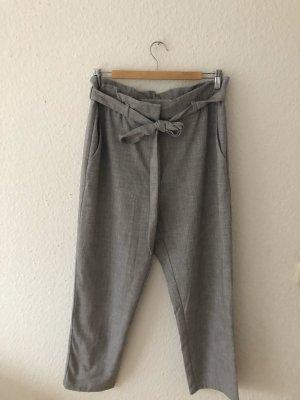H&M Pantalon taille haute gris clair