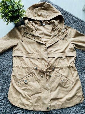 H&M Parka szaro-brązowy-beżowy