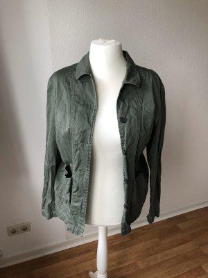 H&M Parka dark green-khaki