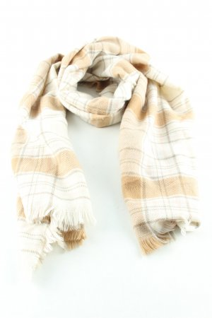 H&M Pashmina natural white-brown check pattern casual look