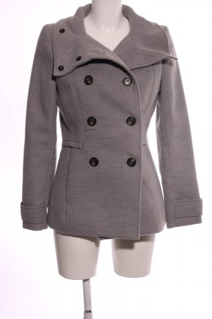 H&M Pea Coat brown flecked business style
