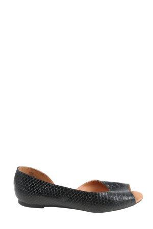 H&M Baleriny z odsłoniętym palcem czarny W stylu casual