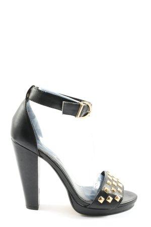 H&M Peeptoe Pumps schwarz Elegant