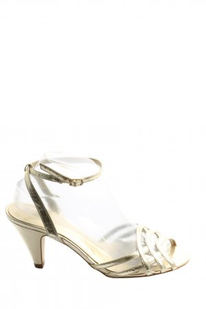 H&M Peeptoe Pumps goldfarben Elegant