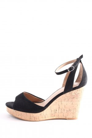 H&M Peeptoe Pumps schwarz Business-Look
