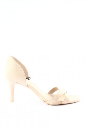 H&M Peeptoe Pumps creme Business-Look
