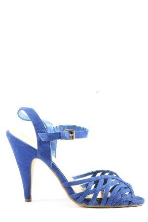H&M Peeptoe Pumps blau Casual-Look