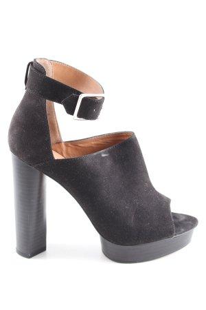 H&M Peeptoe Pumps schwarz extravaganter Stil
