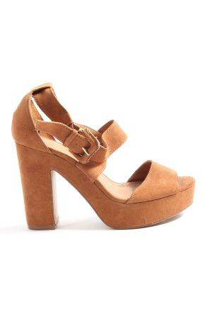 H&M Czółenka z odsłoniętym palcem brązowy W stylu casual