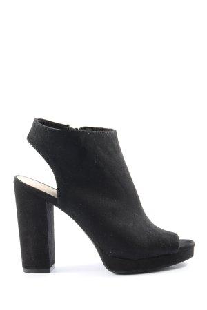 H&M Peep Toe Pumps black business style