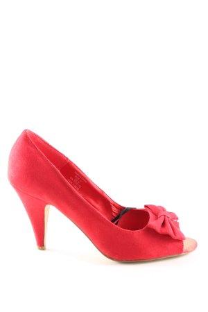 H&M Peep Toe Pumps rood elegant
