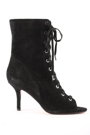 H&M Peeptoe-Stiefeletten schwarz Casual-Look