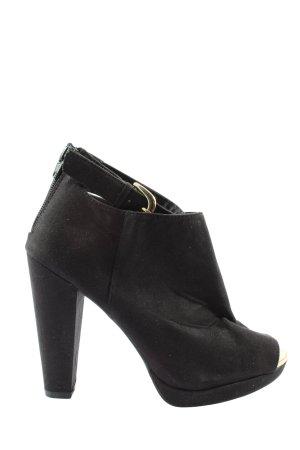 H&M Patucos con punta abierta negro elegante