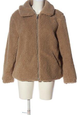 H&M Veste de fourrure brun style décontracté