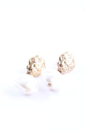 H&M Kolczyk z perłą złoto-biały W stylu casual