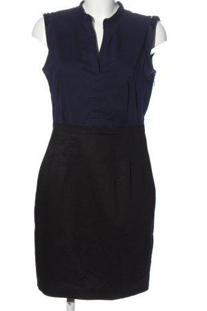 H&M Petticoatkleid blau-schwarz Streifenmuster Casual-Look