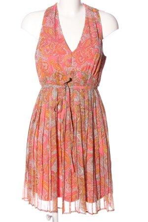 H&M Blusenkleid pink-rot Allover-Druck Casual-Look