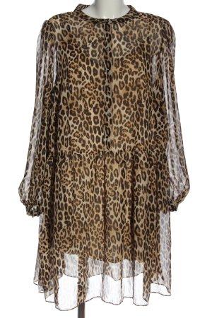 H&M Sukienka z halką Wzór w lwa W stylu casual
