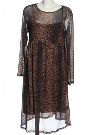 H&M Petticoat Dress brown-black allover print casual look