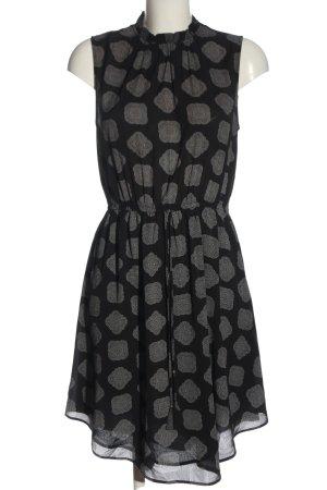 H&M Blusenkleid schwarz-weiß Motivdruck Elegant