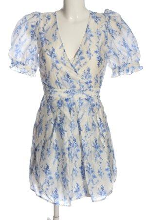 H&M Sukienka z halką biały-niebieski Na całej powierzchni W stylu casual