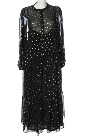 H&M Robe avec jupon noir-doré motif de tache élégant