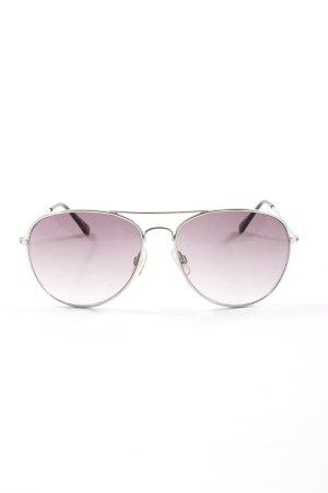 H&M Gafas de piloto color plata look casual