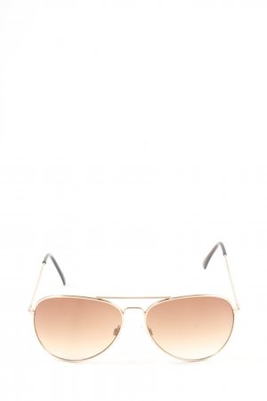 H&M Gafas de piloto color oro degradado de color look casual