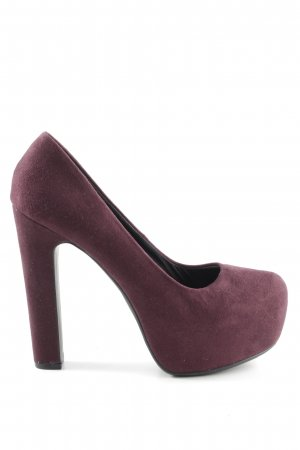 H&M Plateau-Pumps lila-rot Business-Look