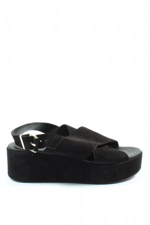 H&M Platform Sandals black casual look