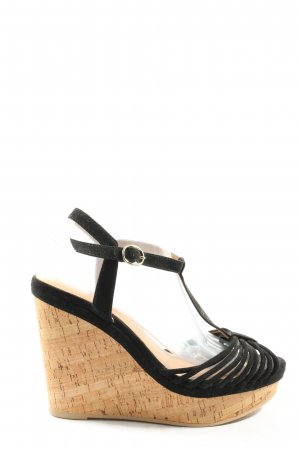 H&M Plateau-Sandalen schwarz Casual-Look