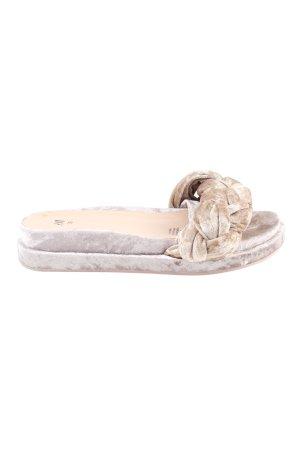 H&M Plateau-Sandalen wollweiß Elegant