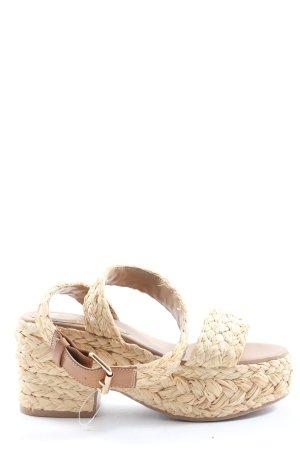 H&M Sandalo con plateau bianco sporco stile casual